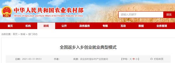 中国典型的返乡创业就业模式